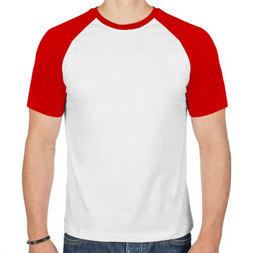 Мужская футболка реглан  Фото 01, Двуглавый дракон с розами