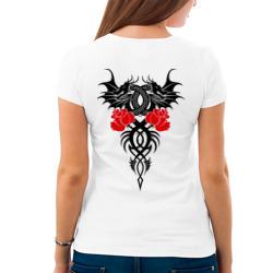 Двуглавый дракон с розами