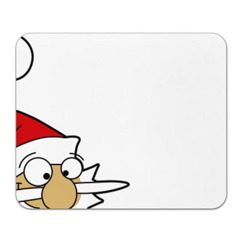 Коврик прямоугольный Санта на олене. от Всемайки
