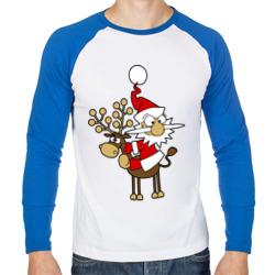 Санта на олене.