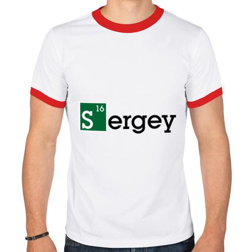 Мужская футболка рингер  Фото 01, Sergey
