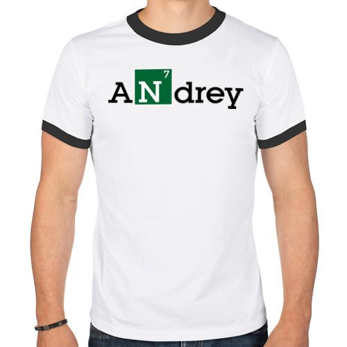Мужская футболка рингер  Фото 01, Andrey