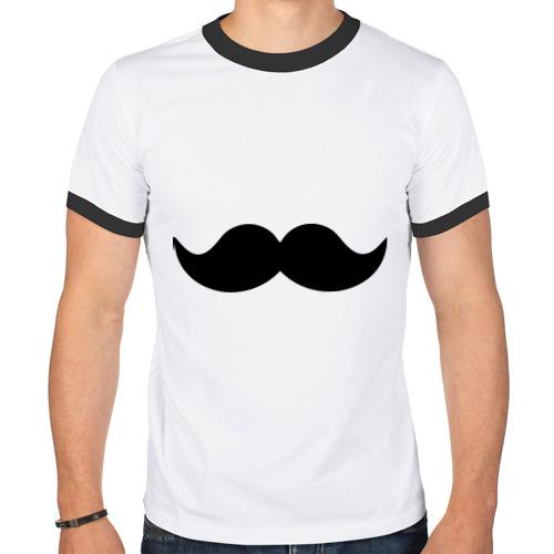 Мужская футболка рингер  Фото 01, Усики