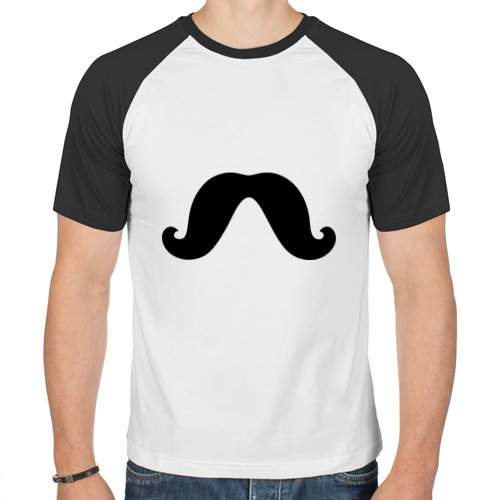 Мужская футболка реглан  Фото 01, Усы