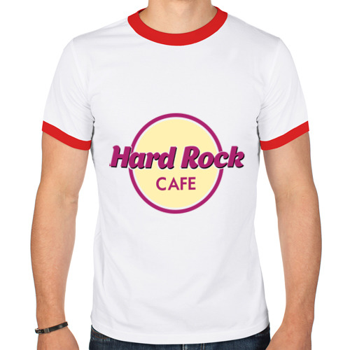 Мужская футболка рингер  Фото 01, Hard rock