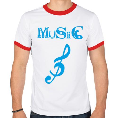 Мужская футболка рингер  Фото 01, музыка