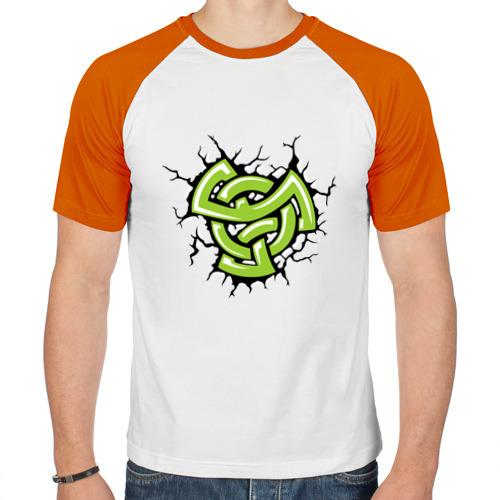 Мужская футболка реглан  Фото 01, Кельтский рисунок в трещинах