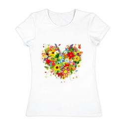 Сердце из полевых цветов - интернет магазин Futbolkaa.ru