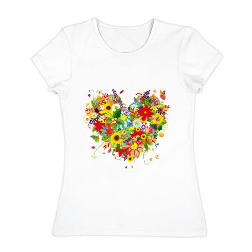 Сердце из полевых цветов