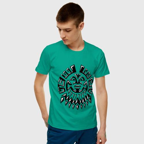 Мужская футболка хлопок  Фото 03, Маска майя