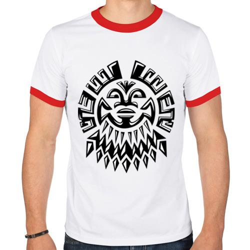 Мужская футболка рингер  Фото 01, Маска майя