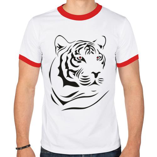 Мужская футболка рингер  Фото 01, тигр