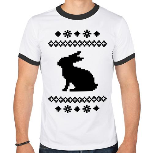 Мужская футболка рингер  Фото 01, Свитер с зайцем