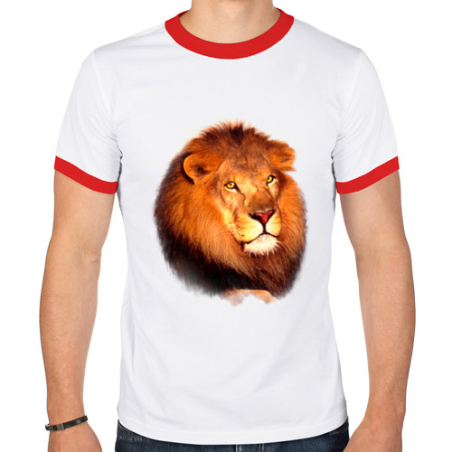 Мужская футболка рингер  Фото 01, Лев