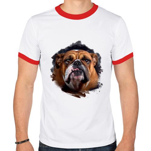 Мужская футболка рингер  Фото 01, Бульдог