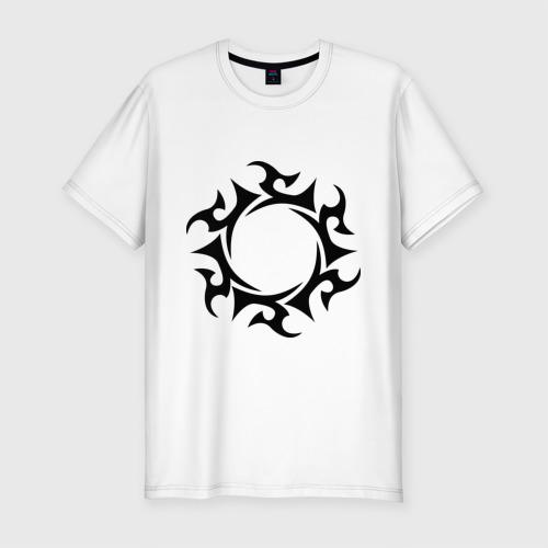 Мужская футболка премиум  Фото 01, Солнце - узор