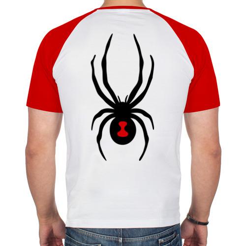 Мужская футболка реглан  Фото 02, Паук на спине