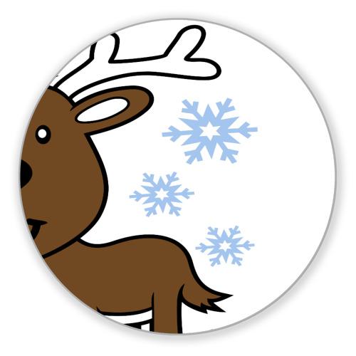Коврик круглый Коврик круглый Олень в снегу. от Всемайки