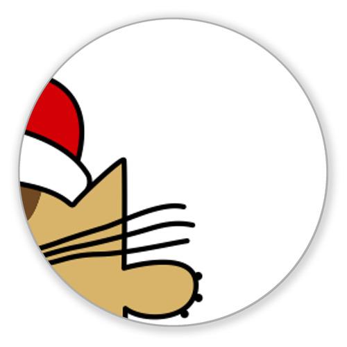 Коврик круглый Коврик круглый Квадратный кот от Всемайки