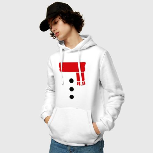 Мужская толстовка хлопок  Фото 03, Снеговик, пуговицы и шарф