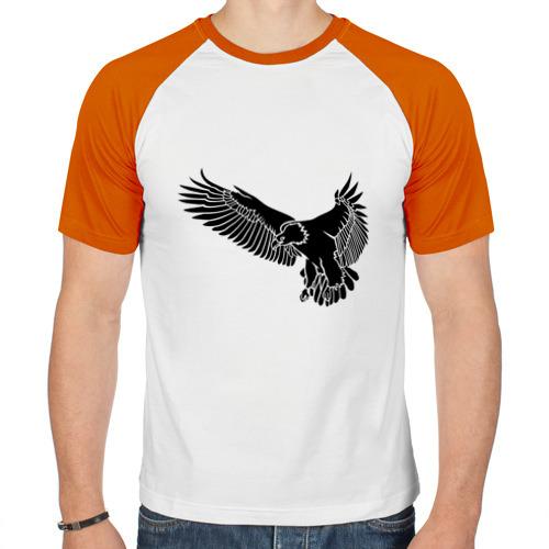 Мужская футболка реглан  Фото 01, Летящий орел