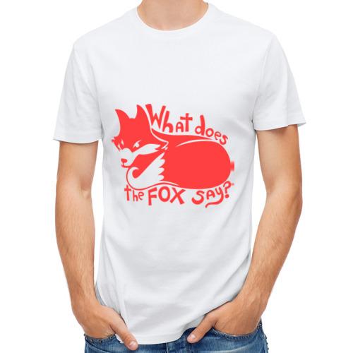 Мужская футболка полусинтетическая  Фото 01, What does the fox say?
