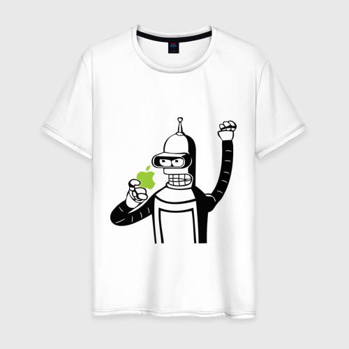 Мужская футболка хлопок Бендер и яблоко