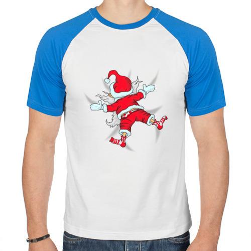Мужская футболка реглан Санта Клаус от Всемайки