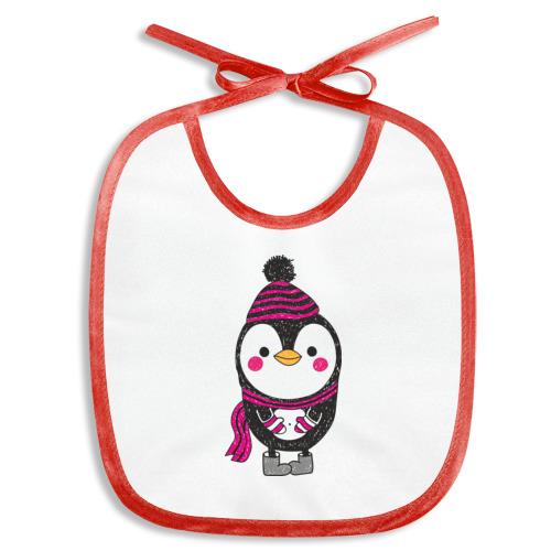 Слюнявчик  Фото 01, Пингвин в валенках