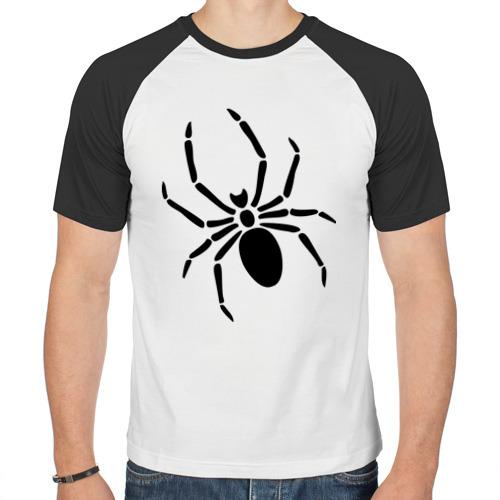 Мужская футболка реглан  Фото 01, Страшный паук