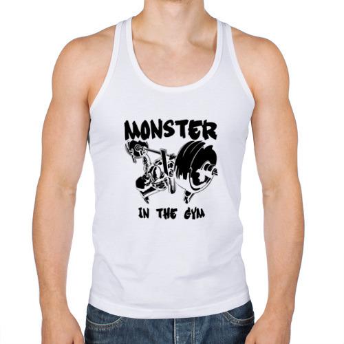 "Мужская майка-борцовка ""Monster in the gym"" - 1"
