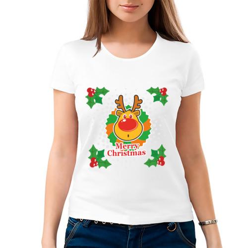 Женская футболка Merry Christmas (С Рождеством) от Всемайки