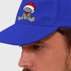 Мишка в новогодней шапке