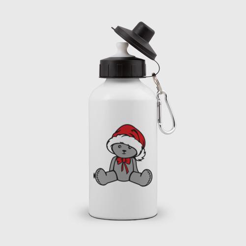 Бутылка спортивная Мишка в новогодней шапке