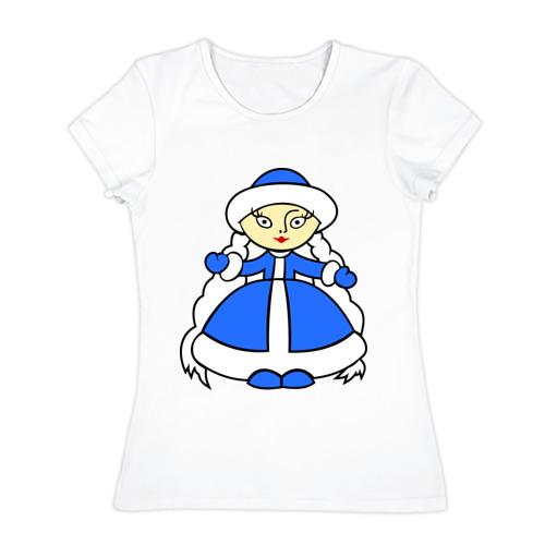 Женская футболка хлопок Снегурочка