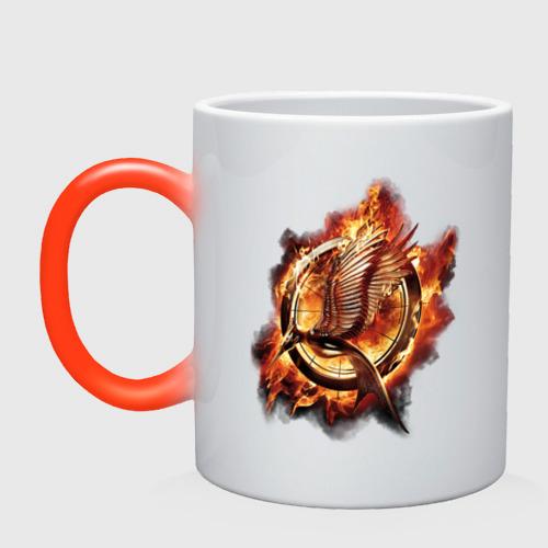 Кружка хамелеон Пламя