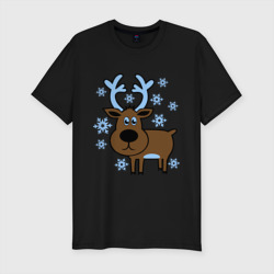 Олень и снежинки