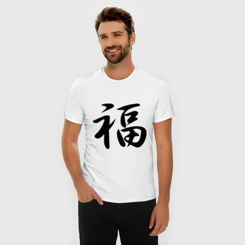 Мужская футболка премиум  Фото 03, Иероглиф удача
