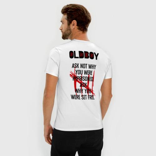 Мужская футболка премиум  Фото 04, Ask why you were set free