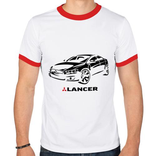 Мужская футболка рингер  Фото 01, Mitsubishi lancer