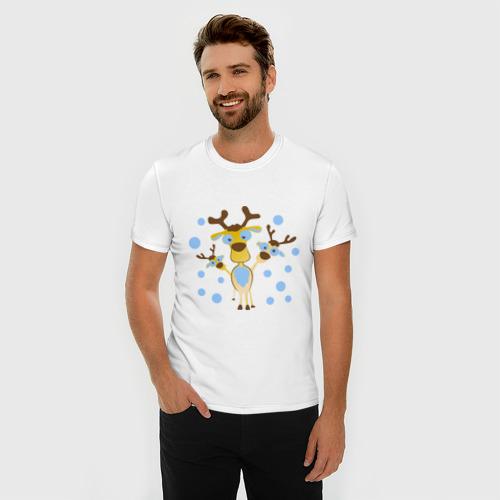 Мужская футболка премиум  Фото 03, Три оленя