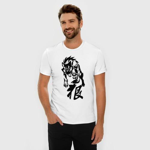 Мужская футболка премиум  Фото 03, Волк