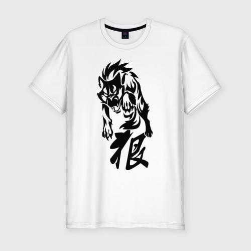 Мужская футболка премиум  Фото 01, Волк