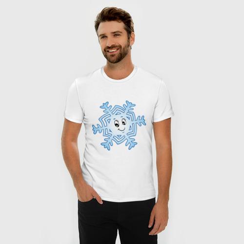 Мужская футболка премиум  Фото 03, Рождественская снежинка