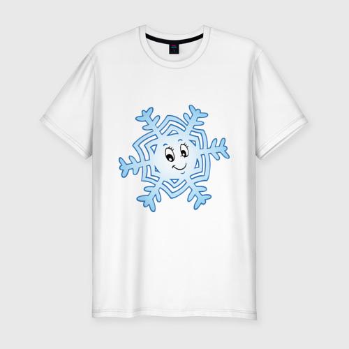 Мужская футболка премиум  Фото 01, Рождественская снежинка