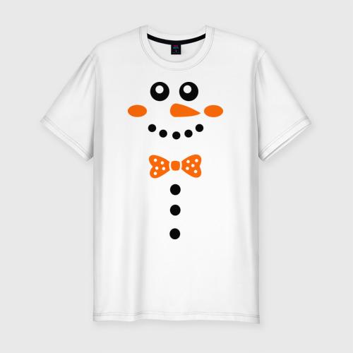 Мужская футболка премиум  Фото 01, Снеговик.