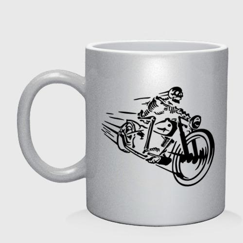 Скелет на мотоцикле