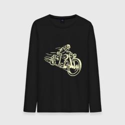 Скелет на мотоцикле (свет)