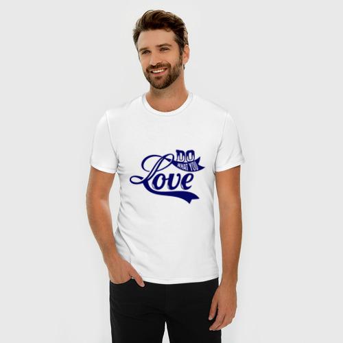Мужская футболка премиум  Фото 03, Делай то что любишь
