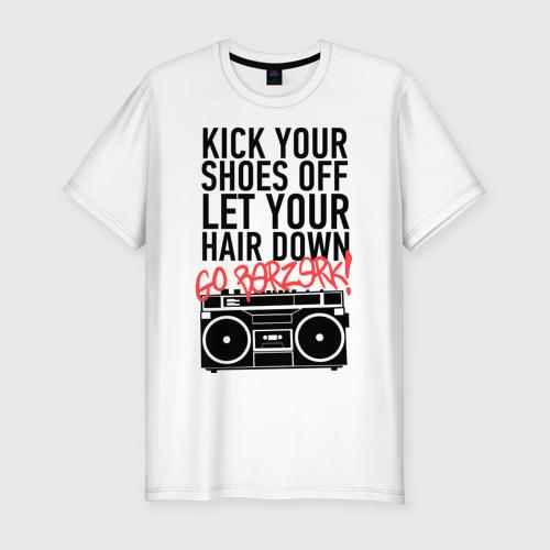 Мужская футболка премиум  Фото 01, Kick your shoes
